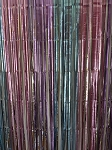 Pastel unicorn metallic fringe curtains